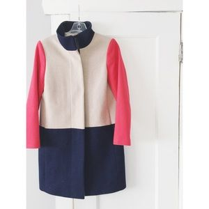 J. Crew Color Block Pea coat